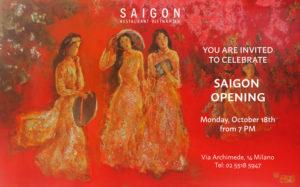 opening Saigon Milano
